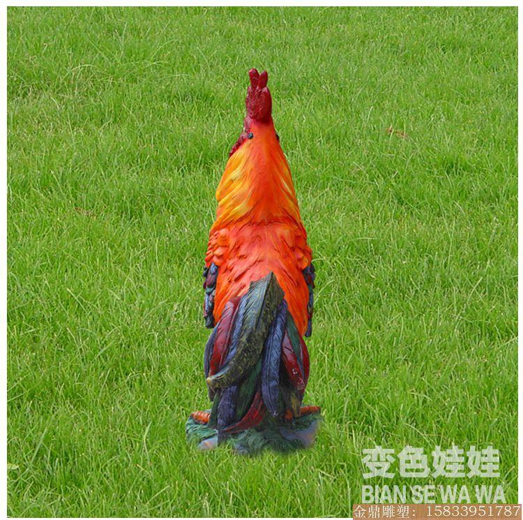 大公鸡雕塑彩绘 (2)