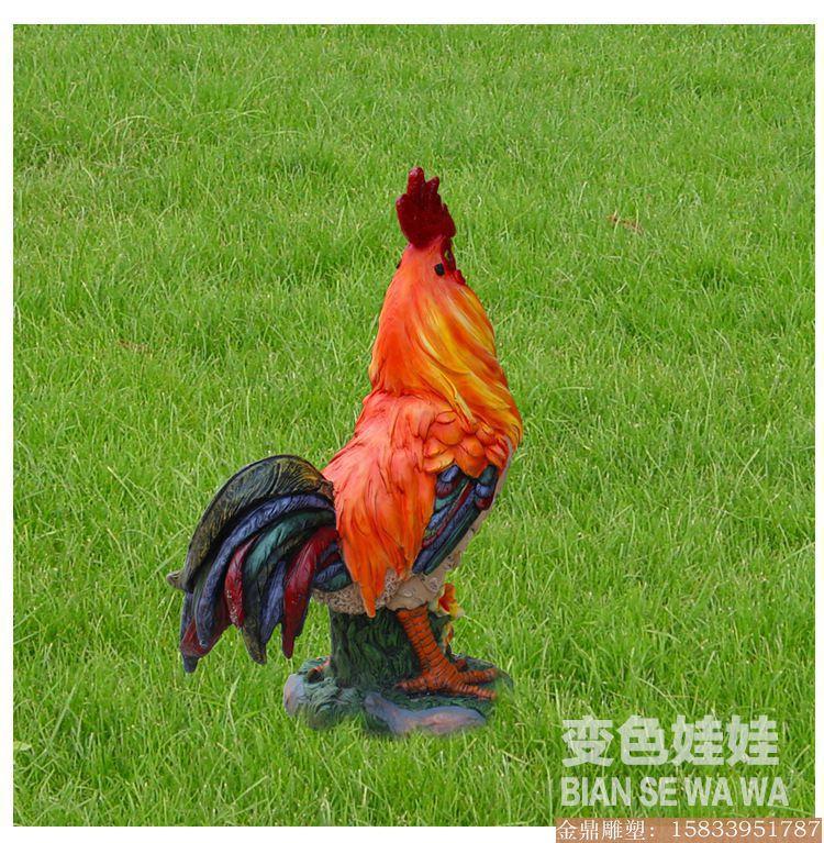 大公鸡雕塑彩绘 (3)