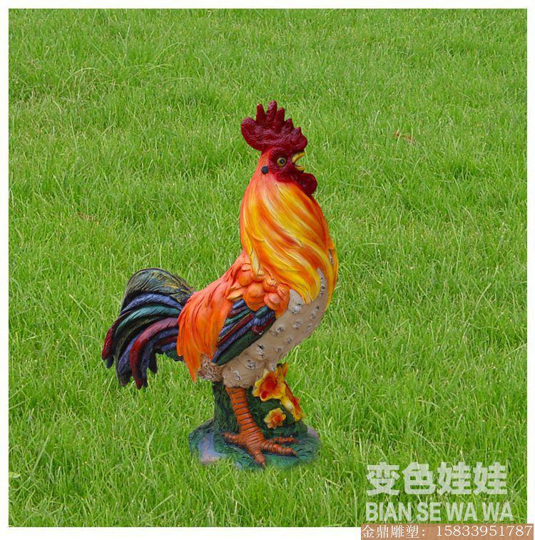 大公鸡雕塑彩绘 (5)